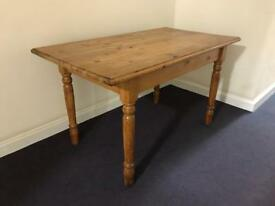 Farmhouse Pine Dining Table £70 ONO