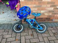 "Blue 12"" bike - stabilisers available"