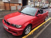 BMW 318CI 2.0 M SPORT CONVERTIBLE 2005 HEATED LEATHERS FULL SERVICE HISTORY NEW 3PC CLUTCH XENONS