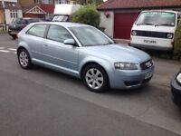 Audi A3 SE 2004 Light Blue 3 Door 1.6 Petrol CLEAN CAR 97K MILES