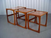 Retro G Plan Nest Of Tables Vintage Furniture Qaudrille X