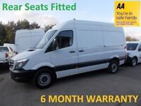 Mercedes Sprinter 313 2.1 CDI 3.5T MWB H/Roof WELFARE VAN with REAR SEATS FITTED