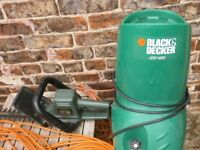 Black and Decker garden shredder with hedge trimmer plus long extension lead