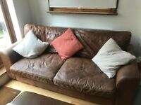 Leather sofa for sale (with ottoman)