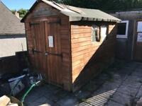 10 x 6 wooden garden shed double doors used very stable