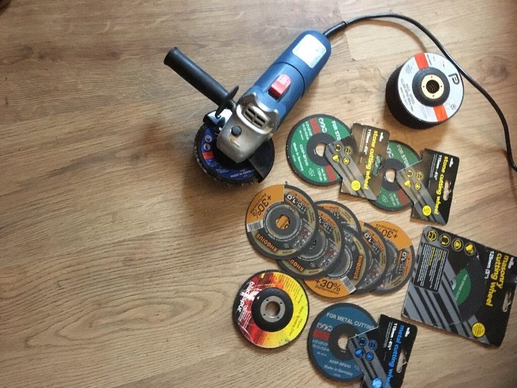 Draper Angel grinder & 20+ discs