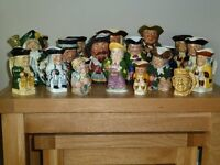 20 Assorted Toby/character jugs