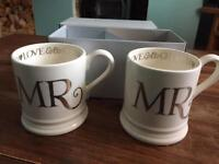 Mr & Mr mugs by Emma Bridgewater. Never been used.