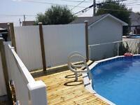 Balcon, fibre de verre, aluminium, patio, toit terrasse, rampes