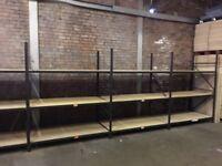 5 bays hi lo industrial long span shelving 2.2 meters high ( pallet racking , storage )