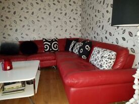 Leather Corner Suite Reduced for Quick Sale