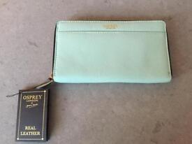 Beautiful leather Osprey purse