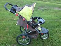 Baby Trend stroller, car seat and two bases