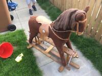 Old mamas and papas rocking horse