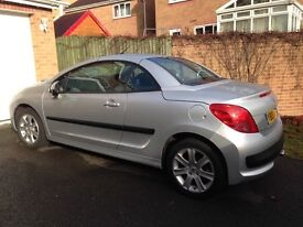 peugeot 207 cc convertible in silver