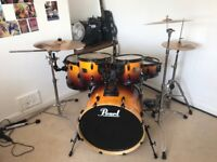 Pearl export Drum kit with fabian cymbals £250 ONO