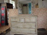dressing table with mirror painted with annie sloan chalk paint
