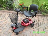 Small collapsable disability scooter