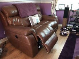 Saxton 2 seater sofa with chair both (electric reclining)