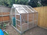 **Polycarbonate, aluminium 6x6 greenhouse for sale