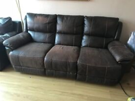Harvey's 3 seater recliner sofa in Dark Brown