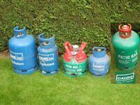 Calor Gas bottles empty £15 EACH. Deposit normally £40 each. FULL and half FULL £25