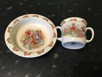 Bunnykins bone China bowl and cup