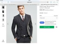 Asos grey skinny fit blazer