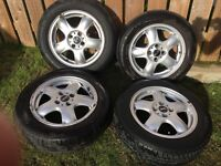 4 GENUINE ALLOY MINI WHEELS WITH TYRES- GREAT CONDITION