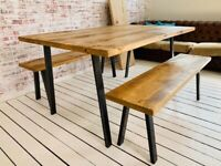 Kitchen Dining Table Industrial Open Frame / Bench Sets - Any RAL Colour Powder Coating!