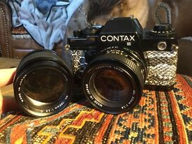 Contax 139 Quartz with f1.4 50 mm and f135 2.8 MM lenses