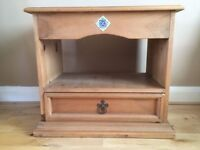 Mexican Pine TV Unit / Storage Unit with drawer