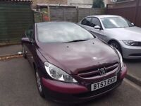 For sale peugeout 307 convertible