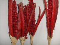4 No Red Corn Maize Striking 5ft high Artificial -