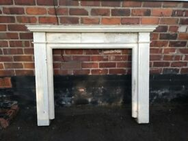 Wooden fireplace surrounding