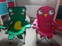2 x childrens camping / picnic chairs