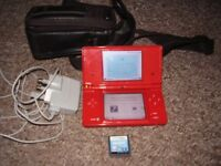NINTENDO DSI WITH CASE AND GAME