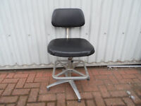 Black & Chrome Vintage Office Barber style chair