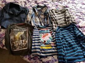 2 shirts and 4 t-shirts