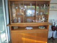 Solid Teak European China Cabinet obo Must sell