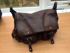 RADLEY Brown Textured Leather Shoulder Bag