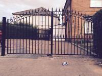 Metal steel driveway gate