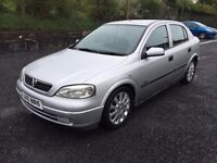 2003 vauxhall astra 1.6 petrol .low miles,mot.02.18,,price;£ 999 ono px/exch