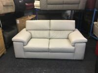 New/ExDisplay Reid Liberata Leather 2 Seater Sofa (movable headrest)