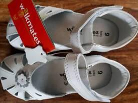 M&S walkmates leather sandles size 9