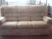 3 seat sofa, 1 chair and 1 electric recliner