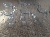 1 litre glass jugs x 6- £4