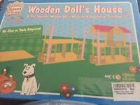Slot Together Wooden Dolls House, Brand New