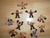 Job Lot of WWE Rumblers and Slam City Figures including mini WWE ring