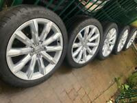 "5x Genuine 2020 Audi A6 18"" alloy wheels +Michelin tyres A4 A6 A5 8K0601025AD CAN POST"